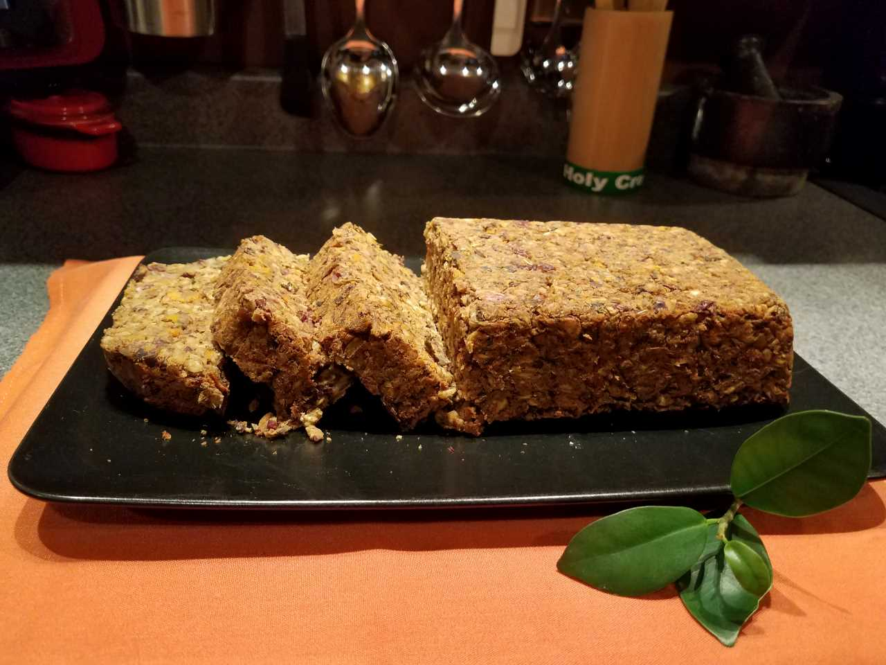 Lentil Loaf with Red Wine Demi Glace